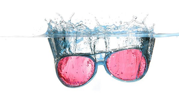 Glasses Spectacles Aquatic Spray Sprig Water Water