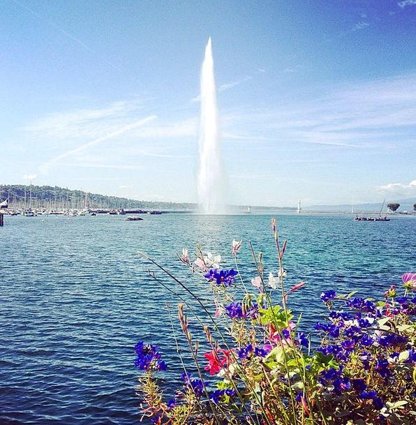 Water Jet Switzerland Geneva Lake Geneva Water Flo