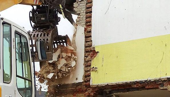 Demolition Excavator Buildings Destruction Archite