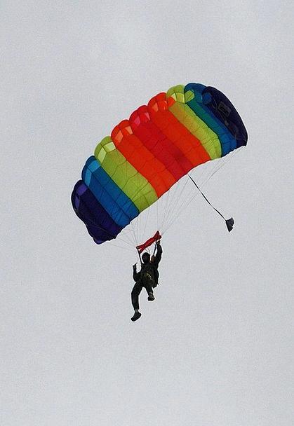 Parachute Free-fall Free-falling Jump Hurdle Skydi