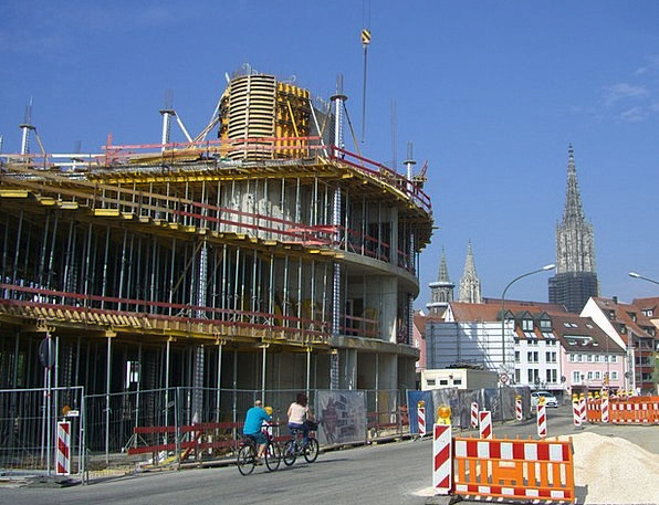 Site Place Scaffold Support Construction Work Müns