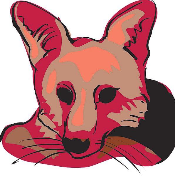 Head Skull Bloodshot Face Expression Red Fox Decei