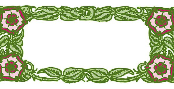 Frame Edge Lime Border Green Vines Creepers Free V