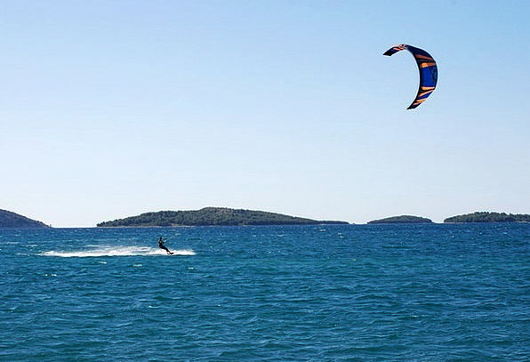 Kite Free-fall Sea Marine Parachute Croatia Wave U
