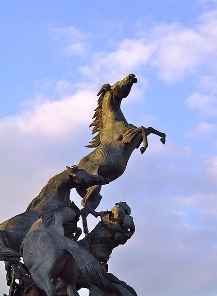 Monument To Horses In Vigo Cattle Bronze Figurine