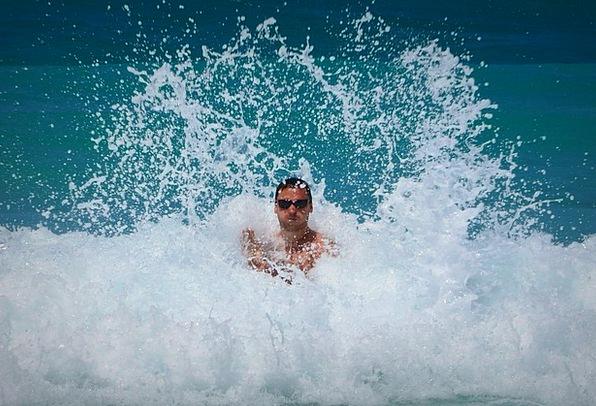 Man Gentleman Marine Ocean Sea Waves Surfs Indestr