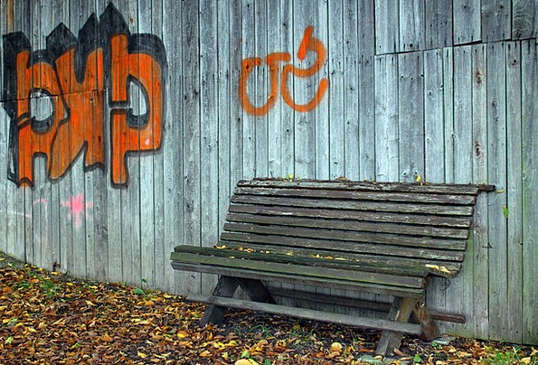 Tremendous Wooden Bench Set Seat Chair Bank Bench Graffiti Out Onthecornerstone Fun Painted Chair Ideas Images Onthecornerstoneorg