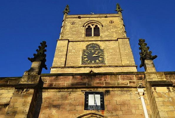 Church Ecclesiastical Clock Timepiece Sundial Back