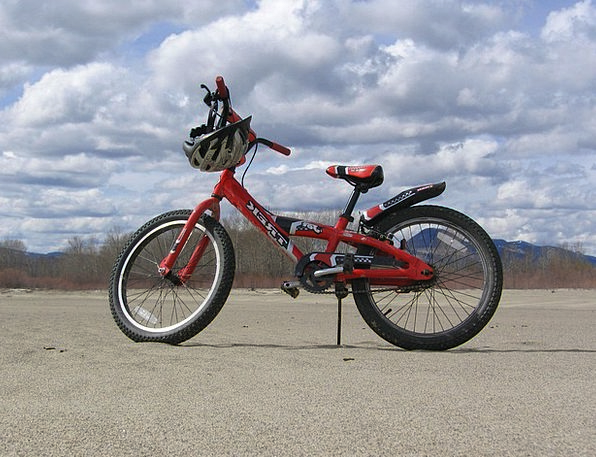 Red Bloodshot Vacation Motorbike Travel Bicycle Bi