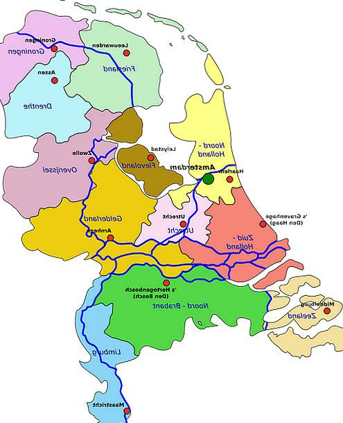 Netherlands Chart Geography Topography Map Holland