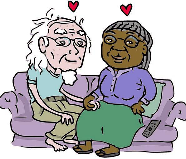 Couple Twosome Aging Grandparents Ancestors Elderl