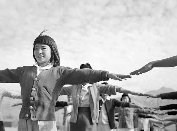 Girl Lassie Broods Manzanar Children World War Ii