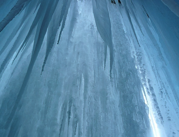 Ice Curtain Stalactite Ice Formations Icicle Cave