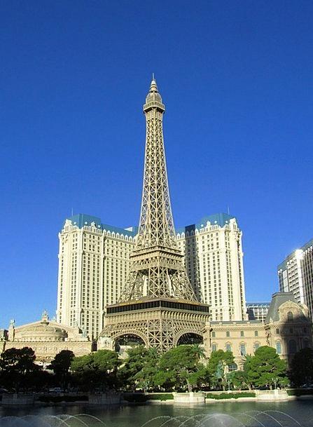 Las Vegas Eiffel Tower Bellagio Skyscraper Tower