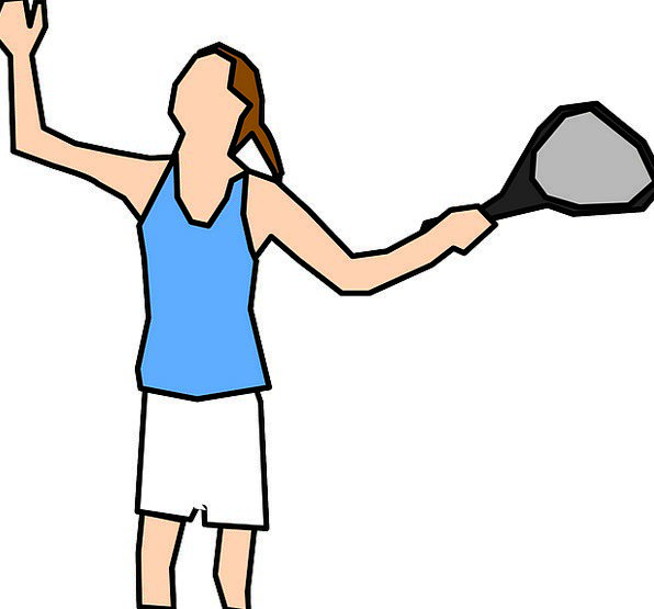 Tennis Player Fashion Lady Beauty Serve Help Woman