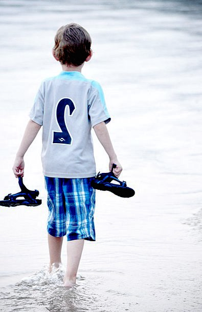 Boy Lad Youngster Water Aquatic Child Beach Young