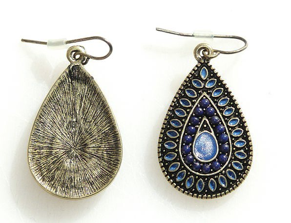 Earrings Jewelries Stone Pebble Jewellery Blue Azu