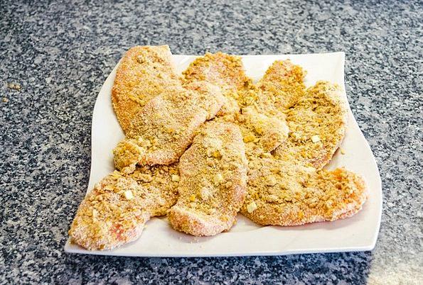 Schnitzel Drink Food Raw Uncooked Breaded Butcher