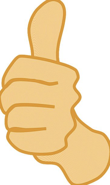 Thumbs Up Okay Scan Yes Affirmative Thumb Symbol S