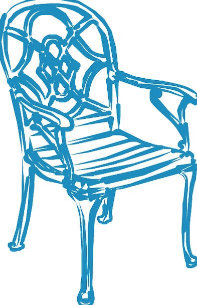 Chair Chairperson Azure Furniture Equipment Blue S