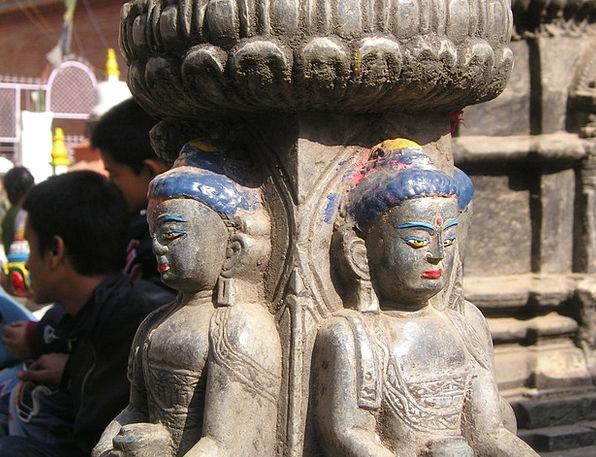 Nepal Statistics Statues Figurines Figures Old Anc
