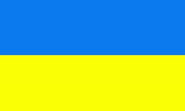Ukraine Standard Country Republic Flag Symbol Sign