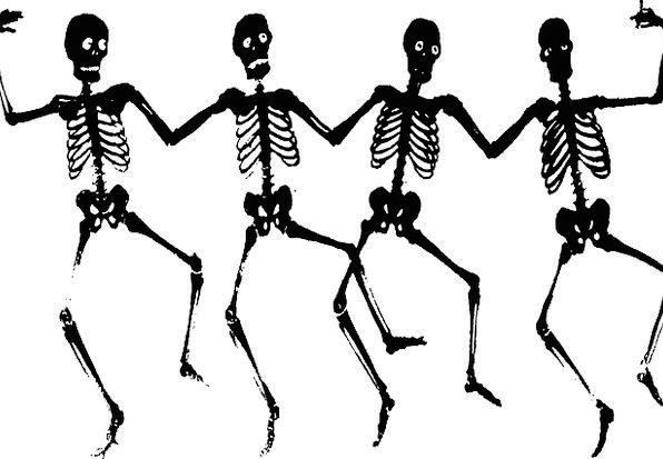 Skeletons, Frames, Bones, Danse Macabre, Spooky, Dance, Ball, Dead ...