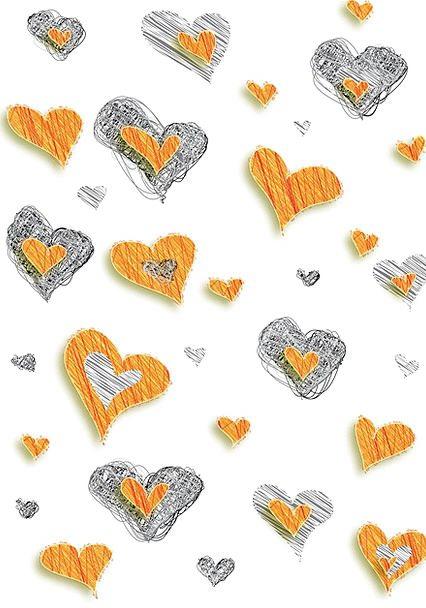 Heart Emotion Textures Emotions Backgrounds Orange
