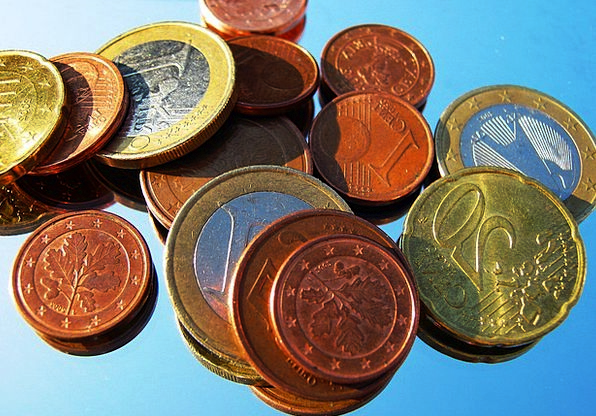 Loose Change Finance Business Currency Euro € Coin