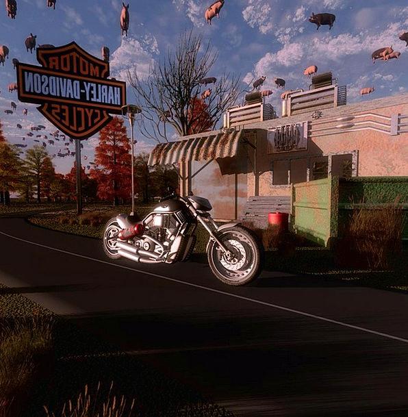 Motorbike Bike Artistic Creative Digital Art Digit