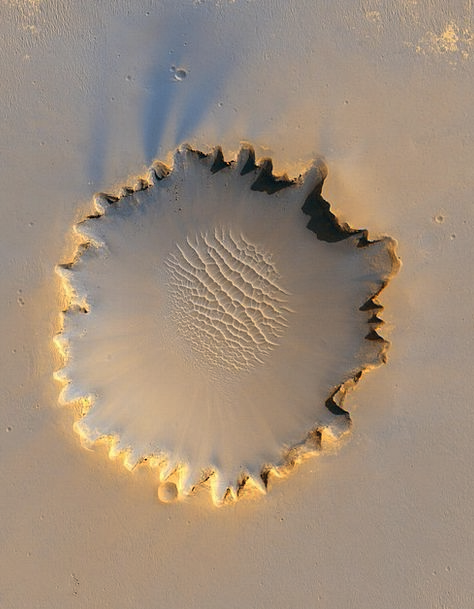 Mars Defaces Earth Crater Hollow Planet Victoria C