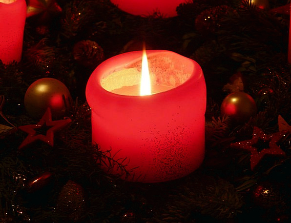 Candle Taper Blaze Light Bright Flame Wick Advent