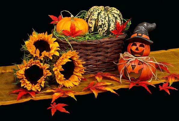 Autumn Dark Dim Black October Decoration Beautific