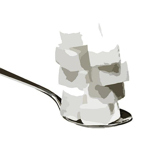 Sugar Cubes Serve Sweet Sugary Spoon Sugar Darling