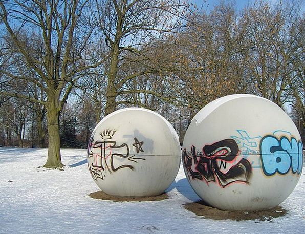 Winter, Season, Sphere, Münster, Ball, Graffiti, Drawings