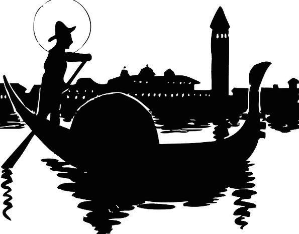 Gondolier Venice Gondola Grand Canal Vinegia Silho