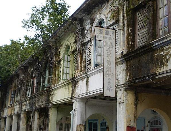 Colonial Houses Malacca Malaysia Melaka Strait Of