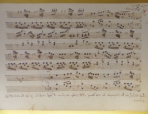 Once Notebook Melody Leopold Mozart Music Mozart S