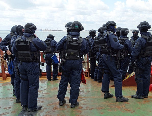 Police Forces Anti-Terrorist Team Exercises Anti-T