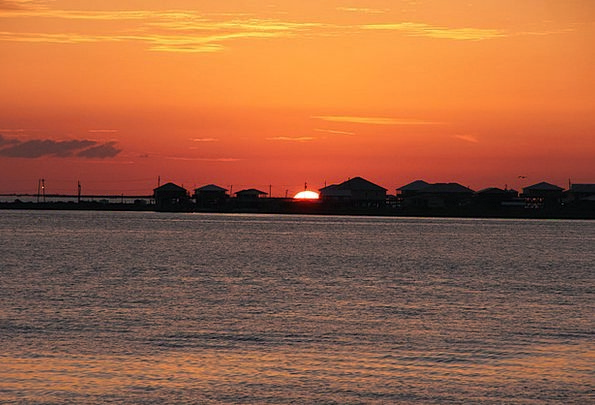 Sunset Sundown Vacation Travel Louisiana Grand Isl