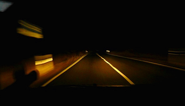 Night Ride Traffic Street Transportation Dark Dim