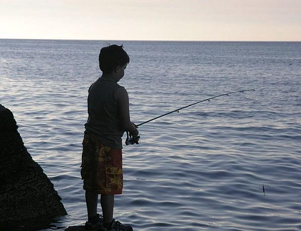 Boy Lad Angling Male Masculine Fishing Childhood C