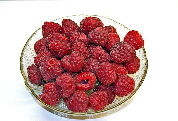 Raspberries Drink Food Sweet Sugary Berries Red Bl