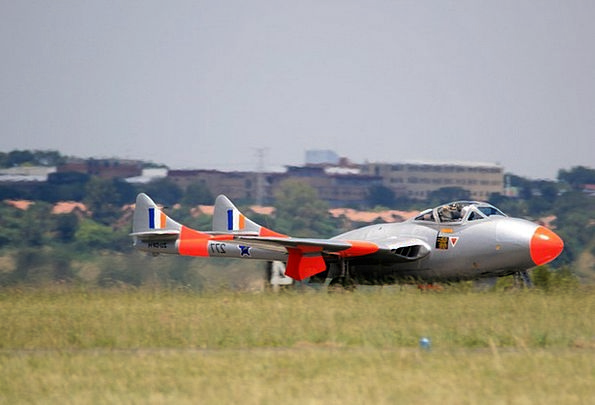 Vampire Jet Plane Aircraft Airplane Jet Runway Air