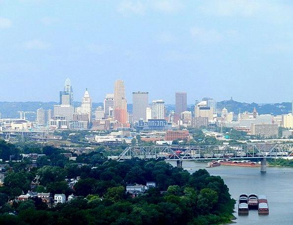 Cincinnati Buildings Architecture City Ohio Clouds
