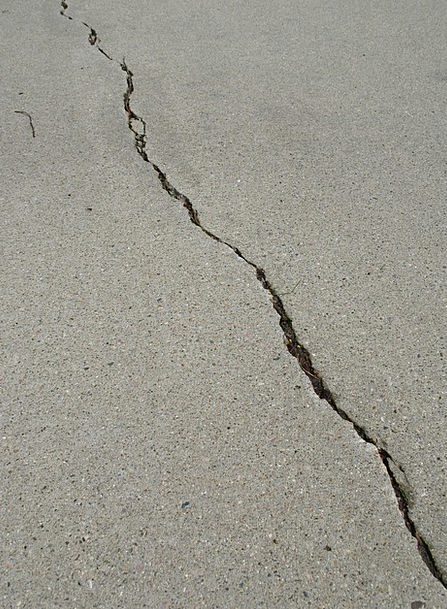 Crack Blow Adhesive Gray Leaden Cement Urban Concr