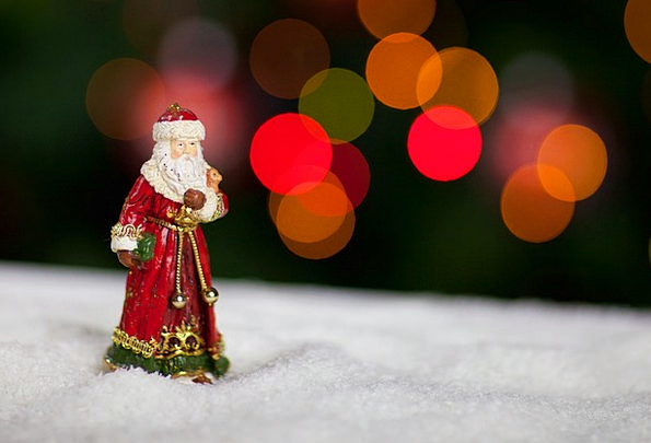Christmas Light Bright Claus People Man Gentleman