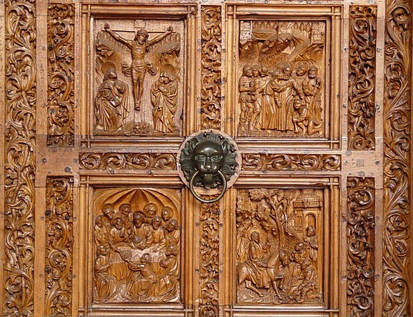 Wood Carving Entrance Wood Timber Door Church Door