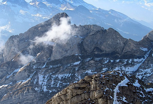 Alpstein Crags Panorama Mountains Swiss Alps View