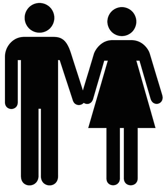 Man Gentleman Lady Silhouette Outline Woman Male B